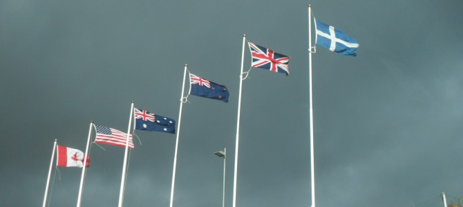 Flags at the Shetland Museum, photo submitted by hamefarer Caralyn Harrison